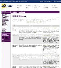 REDD Glossary Screenshot