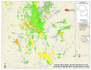 Powder River Basin, Southern Part By 2001 Liquids Reserve Class