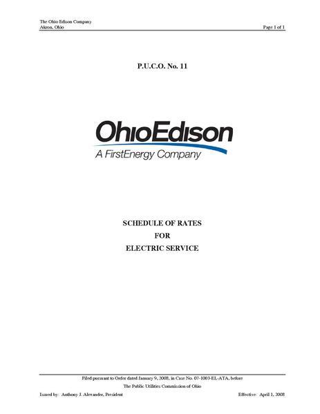 File:Utility Rate OE-2008 - PUCO No. 11.pdf