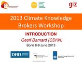 Workshop Introduction