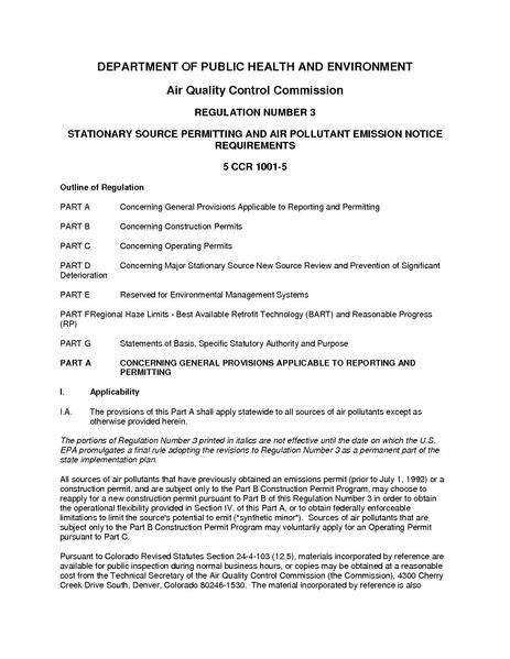 File:5 CCR 1001-5 Colorado Stationary Source Permitting and Air Pollution Control Emission Notice Requirements.pdf
