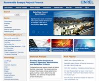 NREL's RE Project Finance Website Screenshot