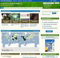 Forest Carbon Portal Screenshot