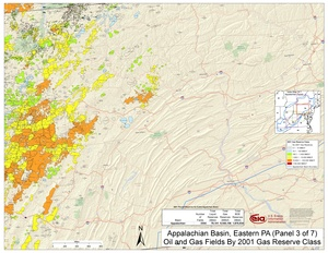 Appalachian Basin, Eastern Pennsylvania By 2001 Gas Reserve Class