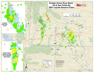 Greater Green River Basin By 2001 Liquids Reserve Class