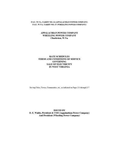 File:Utility Rate APCo-WPCo-July-2008-Tariff-Book.pdf