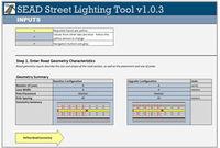 SEAD Street Lighting Evaluation Tool Screenshot