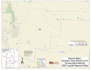 Denver Basin, South Part By 2001 Liquids Reserve Class
