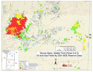 Denver Basin, Middle Part By 2001 BOE Reserve Class