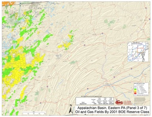 Appalachian Basin, Eastern Pennsylvania By 2001 BOE Reserve Class