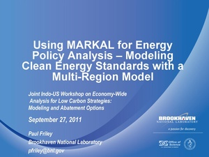 Using MARKAL for Energy Policy Analysis – Modeling Clean Energy Standards with a Multi-Region Model