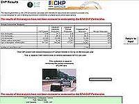 CHP Emissions Reduction Estimator Screenshot