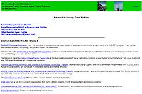 Renewable Energy Case Studies Screenshot