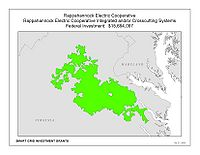 Coverage Map: Rappahannock Electric Cooperative Smart Grid Project