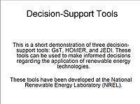 Decision-Support Tools Screenshot
