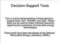 Decision-Support Tools Screenshot
