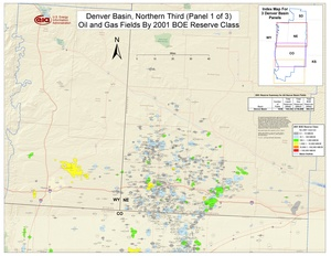 Denver Basin, Northern Part By 2001 BOE Reserve Class