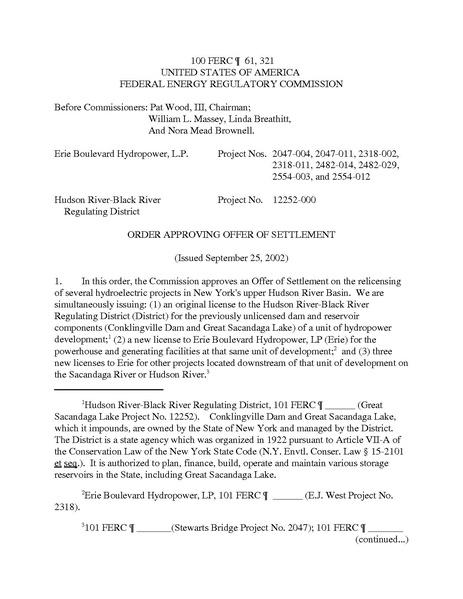 File:Erie Boulevard Hydropower, LP, 100 FERC ¶ 61,321 (2002)..pdf
