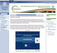 FAO-Modelling System for Agricultural Impacts of Climate Change (MOSAICC) Screenshot