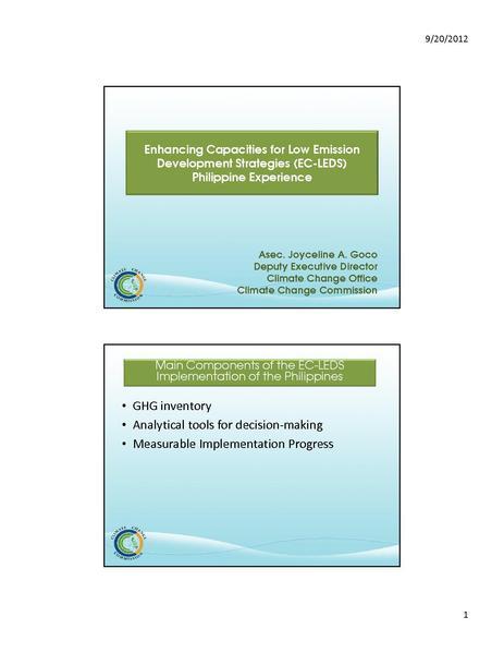 File:Enhancing Capacities for Low Emission Development Strategies (Philippines) - Joyceline Goco.pdf