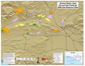 Ventura Basin, East Part By 2001 Gas Reserve Class