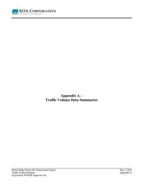 File:Barren Ridge FEIS-Volume III Traffic appendix A Traffic Volume Data Summaries.pdf