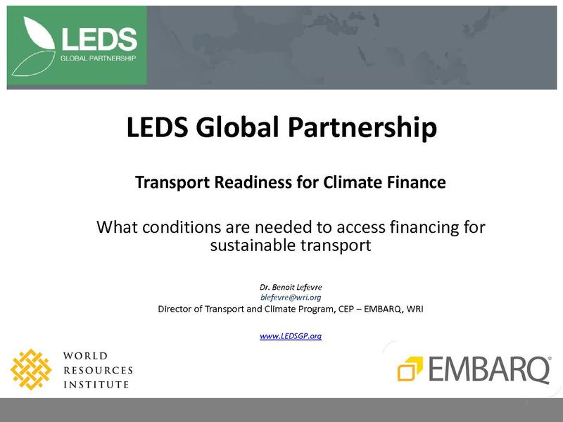 File:Benoit LEFEVRE - Transport Readiness for Climate Finance.pdf