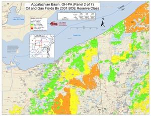 Appalachian Basin, Northern Ohio, Southwestern New York, and Western Pennsylvania By 2001 BOE Reserve Class