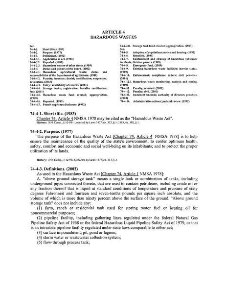 File:Hazardous Waste Act - NMSA.pdf