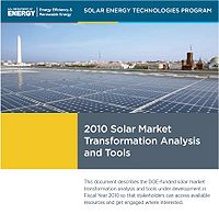 2010 Solar Market Transformation Analysis and Tools Screenshot