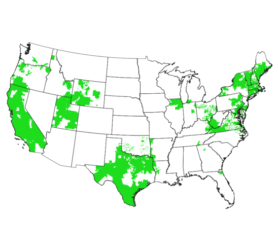 Map of Participating Green Button Utility Providers