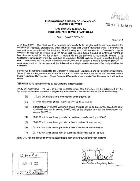 File:Utility Rate Public Service Co of NM schedule 2 a.pdf