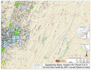 Appalachian Basin, Eastern West Virginia and Western Maryland By 2001 Liquids Reserve Class