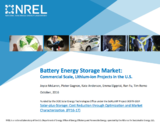 Battery Energy Storage Market: Commercial Scale, Lithium-ion Projects in the U.S.