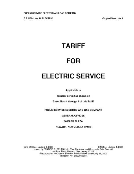 File:Utility Rate PSEG electric tariff.pdf