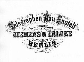 Early Siemens & Halske logo