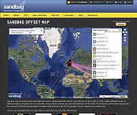 Sandbag Carbon Offset Map Screenshot