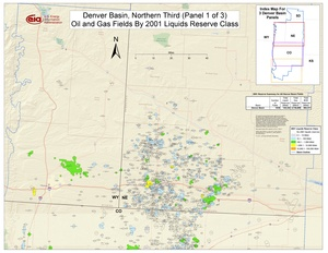 Denver Basin, Northern Part By 2001 Liquids Reserve Class