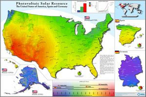 PV Solar Resource - US, Spain and Germany