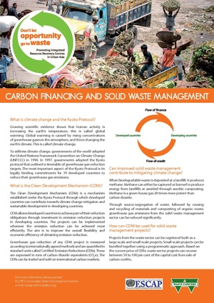 UN ESCAP - factsheet - Carbon Financing and Solid Waste Management.pdf