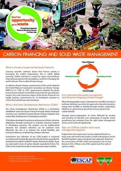 File:UN ESCAP - factsheet - Carbon Financing and Solid Waste Management.pdf