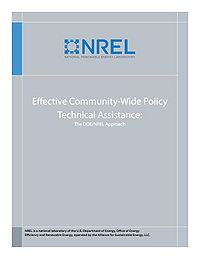 Effective Community-Wide Policy Technical Assistance: The NREL/DOE Approach Screenshot