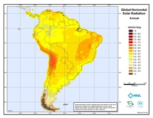 South America Global Horizontal Solar Radiation (PDF)
