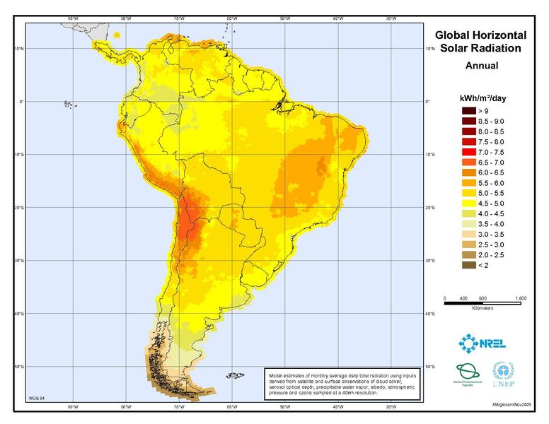 Colombia Open Energy Information - Us solar radiation resource maps