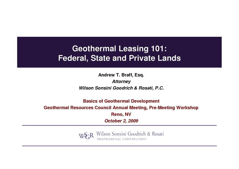 File:Geothermal Leasing 101 - Federal, State and Private Lands.pdf
