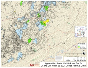 Appalachian Basin, Southern West Virginia and Southwestern Virginia By 2001 Liquids Reserve Class