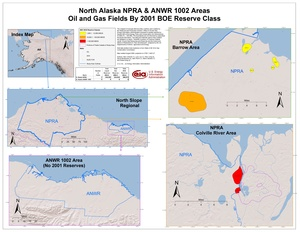 National Petroleum Reserve-Alaska and Arctic National Wildlife Refuge 1002 Area By 2001 BOE Reserve Class