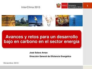 Jose Eslava- Avances y retos para un desarrollo bajo en carbono en el sector energía.pdf