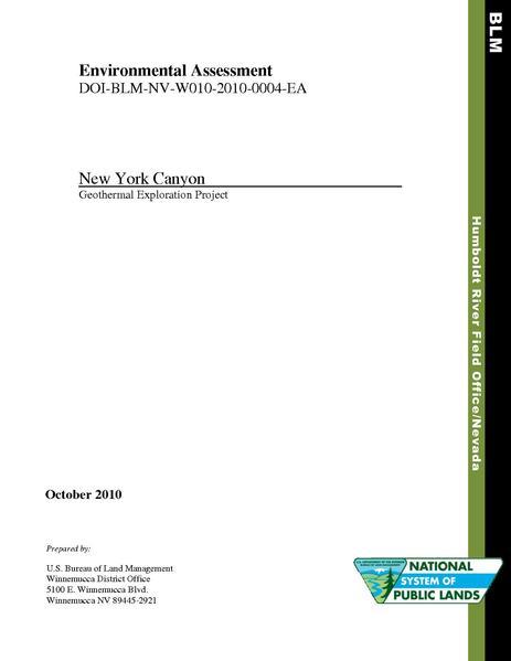 File:EA-DOI-BLM-NV-W010-2010-0004-EA-New York Canyon Exploration.pdf