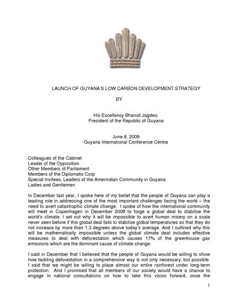 File:Presidential Address at Guyana Low Carbon Development Strategy Launch.pdf